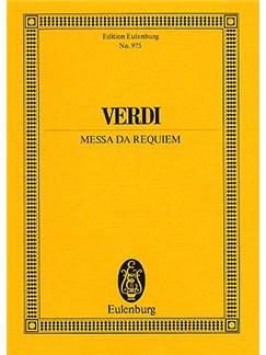 Giuseppe Verdi: Requiem (Eulenburg Miniature Score) Books | Solo Mezzo-Soprano, SATB Chorus, Orchestra