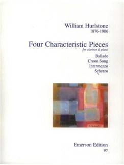 William Hurlstone: Four Characteristic Pieces Books | Clarinet, Piano Accompaniment