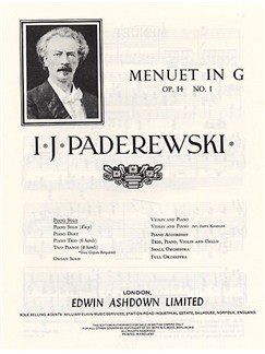 Ignacy Paderewski: Menuet In G Op.14 No.1 Books | Piano
