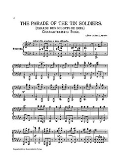 Leon Jessel: The Parade Of The Tin Soldiers Op.123 (Piano Duet) Libro | Piano Dúos