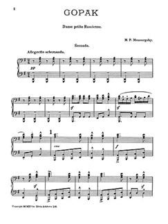 Modest Mussorgsky: Gopak (Piano Duet) Books | Piano Duet