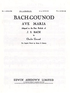 JS Bach/C Gounod: Ave Maria In E Flat Major Books | Voice, Piano Accompaniment