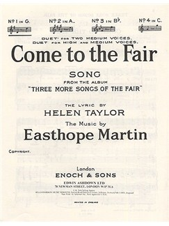 Easthope Martin: Come To The Fair In G Major Books | Voice