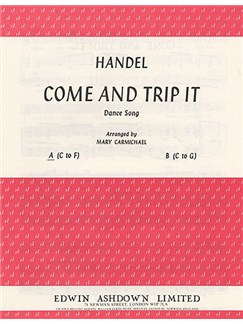 G.F. Handel: Come And Trip It In A Minor Books | Medium Voice and Piano
