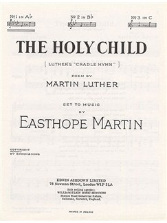 E Martin: The Holy Child In A Flat Major Buch | Gesang, Klavierbegleitung