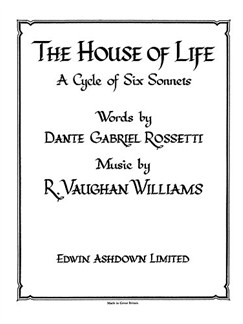 Ralph Vaughan Williams: The House Of Life Books | Voice, Piano Accompaniment