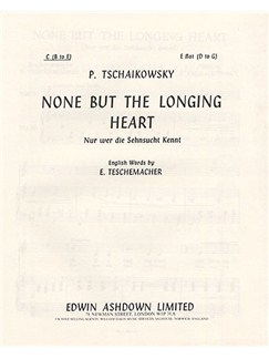 P Tchaikovsky: None But The Longing Heart Buch | Gesang, Klavierbegleitung