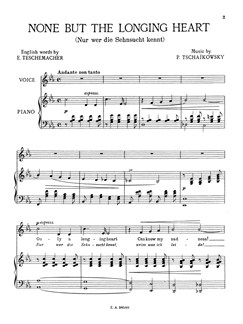 Tschaikowsky: None But The Longing Heart (PV) Books | Voice, Piano Accompaniment
