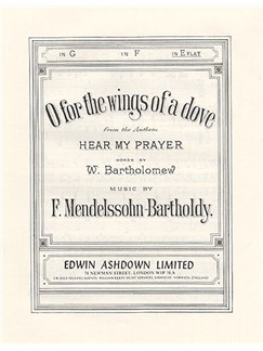F Mendelssohn: O For The Wings Of A Dove Books | Voice and Piano