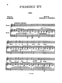 Edward Purcell: Passing By (In F) Books | Voice, Piano