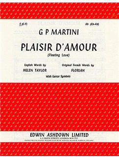 Giovanni Martini: Plaisir D'Amour In F Books | Voice and Piano