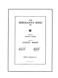 Gustav Holst: The Sergeant's Song Op.15 No.3 (A Minor Version) Books | Voice, Piano Accompaniment