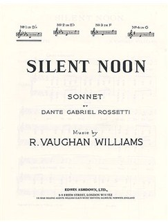 Vaughan Williams: Silent Noon In D Flat Books | Voice, Piano