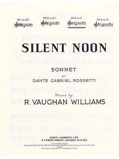 Vaughan Williams: Silent Noon in F Books | Voice, Piano