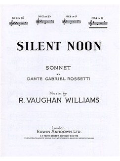 Vaughan Williams: Silent Noon in G Books | Voice, Piano