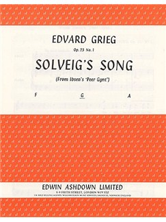 Edvard Grieg: Solveig's Song (Medium Voice) Libro | Voz Media, Acompañamiento de Piano