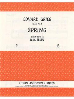 Edvard Grieg: Spring (Varen) Op.33 No.2 Books | Voice, Piano