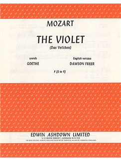Mozart: The Violet (Das Veilchen) Books | Piano, Voice