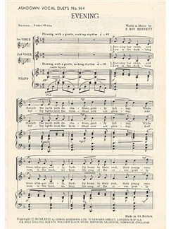 F Roy Bennett: Evening Buch | Mittlere Stimme (Duett), Klavierbegleitung