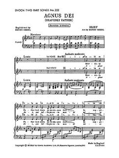 Georges Bizet: Agnus Dei Libro | Coro en 2 Partes, Acompañamiento de Piano, Coral