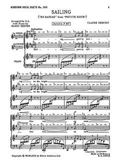 Debussy: Sailing (SA/Piano) Libro | Voz Alta, Coro en 2 Partes, Acompañamiento de Piano