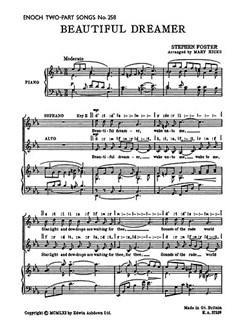 Stephen Foster: Beautiful Dreamer (2-Part) Bog | Klaverakkompagnement