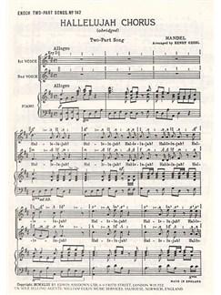 G.F. Handel: Hallelujah Chorus (SA) Books | Soprano, Alto, Piano