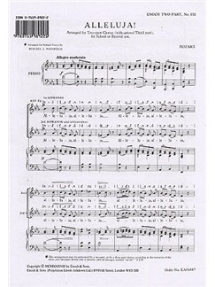W.A. Mozart: Alleluja! (SS) Books | 2-Part Choir, Piano Accompaniment