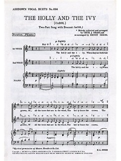 Cecil Sharp: The Holly And The Ivy (2-part/Piano) Books | 2-Part Choir, Piano Accompaniment