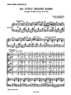 G.H. Clutsam: Ma Curly-Headed Babby (SATB/Piano) Libro | SATB, Acompañamiento de Piano