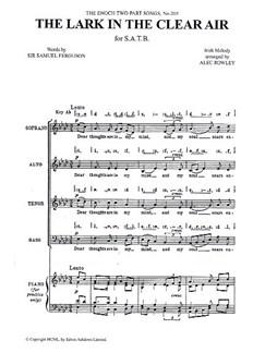 The Lark In The Clear Air (SATB arr. Rowley) Books | Soprano, Alto, Tenor, Bass