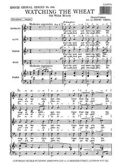 Watching The Wheat (SATB) Books | Soprano, Alto, Tenor, Bass, Piano