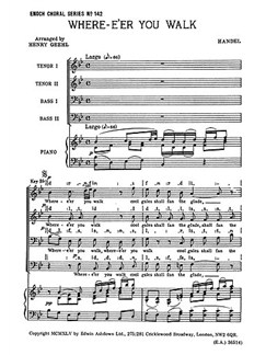 G.F. Handel: Where E'er You Walk (TTBB) Books | TTBB, Piano Accompaniment