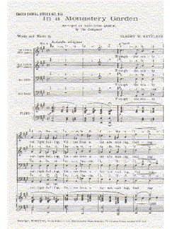 Albert Ketelbey: In A Monastery Garden (TTBB) Books | 2 Tenor, 2 Bass, Piano