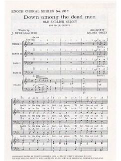 Down Among The Dead Men (TTBB) Arr. Idloes Owen Libro | TTBB, Acompañamiento de Piano
