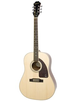 Epiphone: AJ-200S Acoustic Guitar - Natural Instruments | Acoustic Guitar