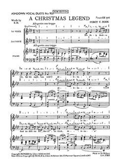 Percy Buck: A Christmas Legend Books   Soprano, Alto, Piano
