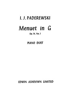 Ignacy Jan Paderewski: Minuet in G Op.14 No.1 (Piano Duet) Books | Piano Duet