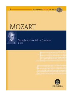 W.A. Mozart: Symphony No.40 In G Minor K.550 (Eulenburg Score/CD) Books and CDs | Orchestra