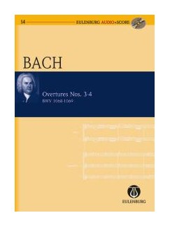 J.S. Bach: Overture No.3 BWV 1068/Overture No.4 BWV 1069 (Eulenburg Score/CD) Books and CDs | Orchestra