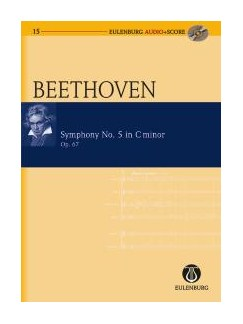 Ludwig Van Beethoven: Symphony No.5 In C Minor Op.67 (Eulenburg Score/CD) Books and CDs | Orchestra