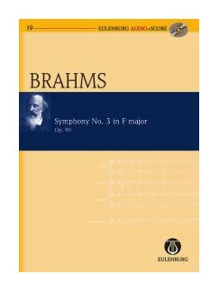 Johannes Brahms: Symphony No.3 Op.90 In F (Eulenburg Score/CD) Books and CDs | Orchestra