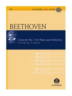 Ludwig Van Beethoven: Piano Concerto No.5 Op.73 In E Flat 'Emperor' (Eulenburg Score/CD) Books and CDs | Piano, Orchestra