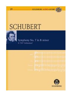 Franz Schubert: Symphony No.7 In B Minor D.759 Unfinished (Eulenburg Score/CD) Books and CDs | Orchestra