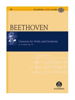 Ludwig Van Beethoven: Violin Concerto Op.61 In D (Eulenburg Score/CD) Books and CDs | Violin, Orchestra