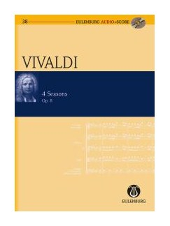 Antonio Vivaldi: The Four Seasons Op.8 (Eulenburg Score/CD) Books and CDs | Violin, String Orchestra, Continuo