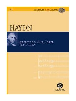 Joseph Haydn: Symphony No.94 In G 'Surprise' (Eulenburg Score/CD) Books and CDs | Orchestra