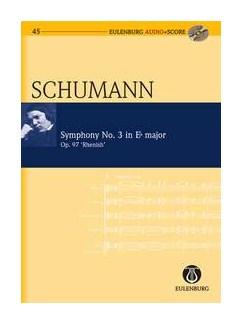 Robert Schumann: Symphony No.3 In E Flat Op.97 'Rhenish' (Eulenburg Score/CD) Books and CDs | Orchestra