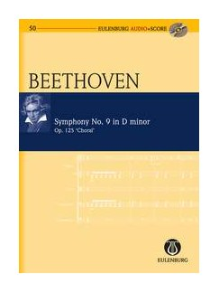 Ludwig Van Beethoven: Symphony No.9 In D Minor Op.125 'Choral' (Eulenburg Score/CD) Books | Orchestra, SATB