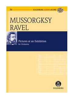 Modeste Moussorgsky: Pictures At An Exhibition (Eulenburg Score/CD) Books and CDs | Orchestra